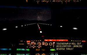 Queenstown Night Operations - cockpit